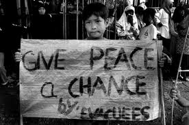 Give peace a chance - for our younger generations.