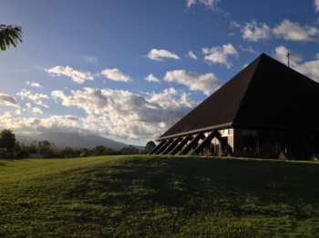 The mountains of Bukidnon provide a perfect backdrop adding to the serenity of the place