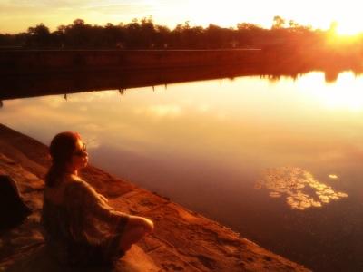 Greeting the Sunrise in Angkor Wat