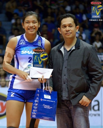 The next face of women's volleyball, Alyssa Valdez, took the other special award: the BioFit Most Fit Athlete of the Tournament Award.