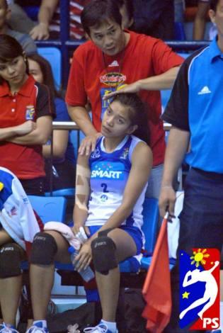 Alyssa is injured.
