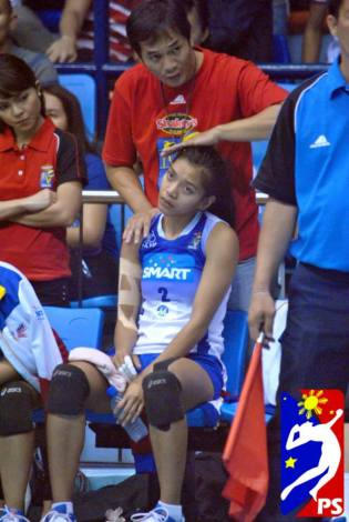 Alyssa is injured.