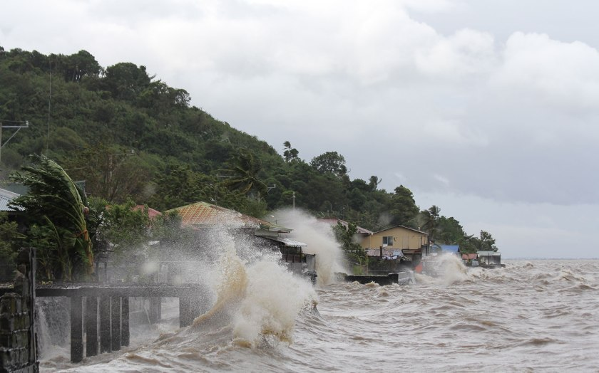 This photo was taken as the storm neared Leyte.