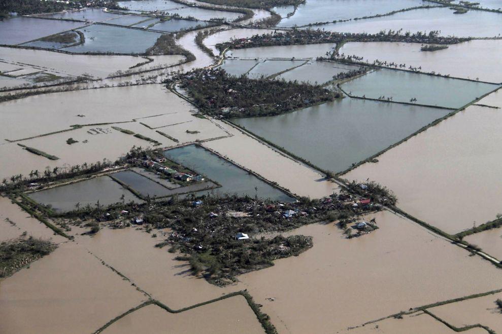 Farms flooded.