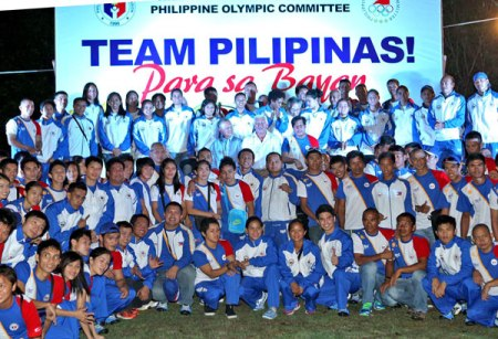 Dedicating the team's performance to our Yolanda victims. (Courtesy of www.philstar.com)