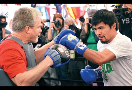 Does Manny still have the desire to mix it up with the gladiators of the ring? (Courtesy of Philstar)