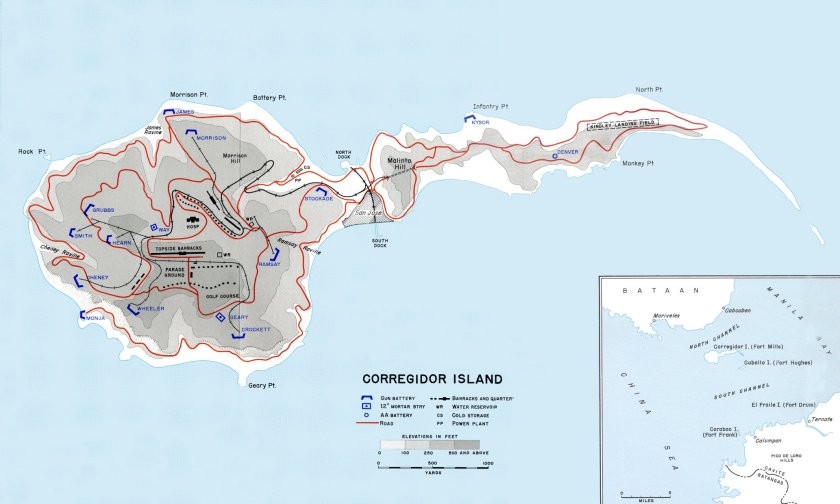 Corregidor, an island rich in military history.