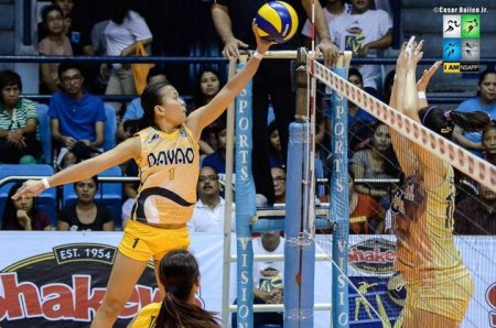 Davao's offense was led by Sheila Mae Agton. (Courtesy of Shakey's V-League)