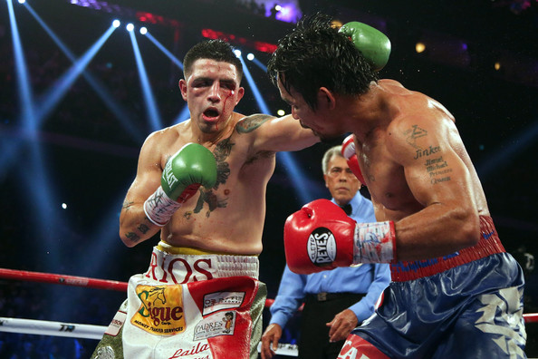 Manny went bing-bang-boom against BamBam. (From zimbio.com)