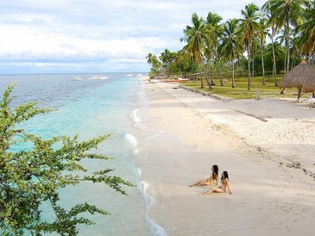 Pamilacan Island Paradise's white sand beach - pretty, pristine, private.
