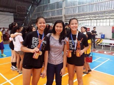 EJ and Eya Laure, ready to challenge Dindin and Jaja Santiago, for volleyball's sister-act crown.