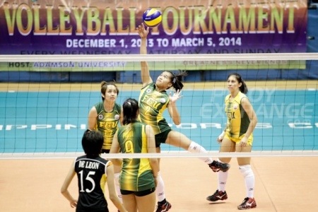Bernadette Pons in action against UST. (Photo by Mark Cristino)