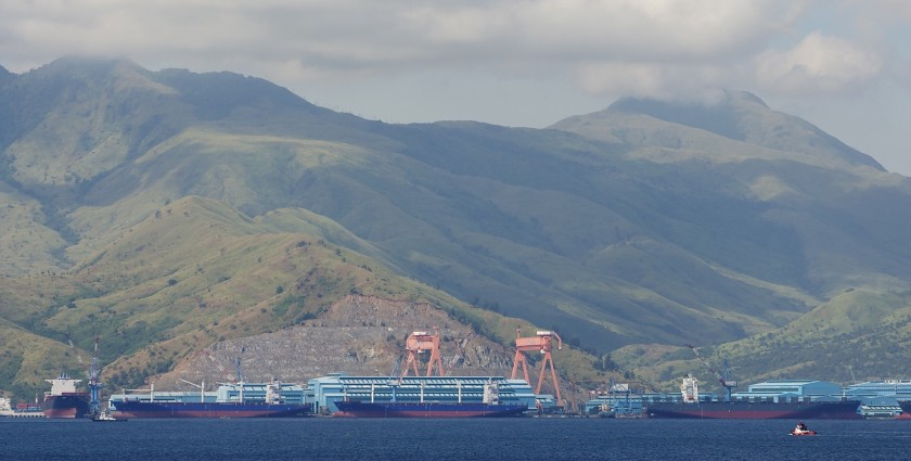 Hanjin Shipyard, Subic Bay, November 13th, 2013. Photo by Victor Robert Lee