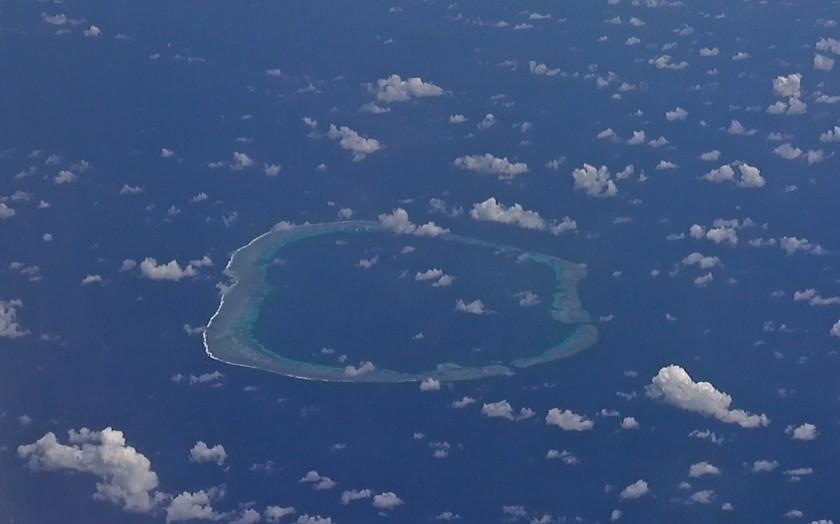 Mischief Reef, Spratly Islands, November 7th, 2013. Photo by Victor Robert Lee.