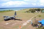 Philippine C-130 visits Pag-asa Island.