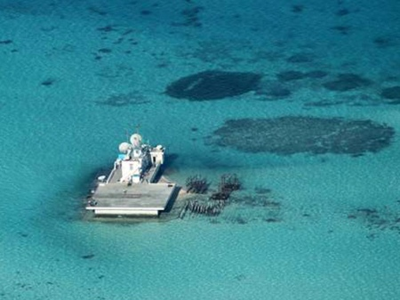 Disputed reef in the South China Sea