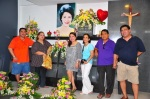 Visiting his late wife, Inday, after the last reunion.