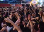 Crowd goes wild!