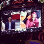 Two ring icons heat up the Heats game.