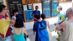 A dive instructor gives his briefing.