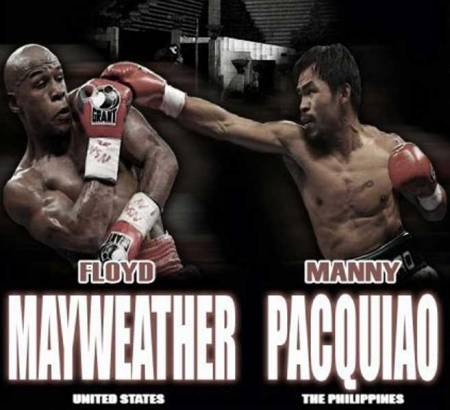 Mayweather - Pacquiao. (courtesy of thesweetscience.com)