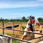 David joined the Habitat construction team in Sulangan, Bantayan...