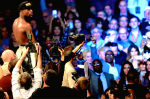 At the end of the fight, Floyd stood tall...