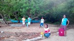 Brgy volunteers are there to welcome us.