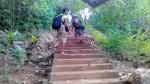 The trek to the brgy poblacion.