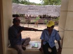 Getting advice from the Tagbanua elders.