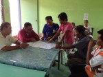 Brgy Capt Marilyn Credo discusses the water project for the barrio