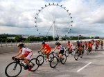 The bike race across the city's breathtaking view.