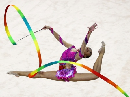 28th SEA Games Singapore 2015 - Bishan Sports Hall, Singapore - 14/6/15 Gymnastics - Rhythmic - Individual All-Around - Singapore's Tong Kah Mun in action TEAMSINGAPORE SEAGAMES28 Mandatory Credit: Singapore SEA Games Organising Committee / Action Images via Reuters