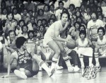 Abet watches as Jawo dribbles away.