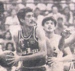 Mon double-teamed by buddies, Alvin Patrimonio and Jerry Codinera.