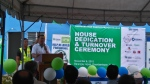 Habitat CEO Charlie Ayco relates the story of the hypar design.