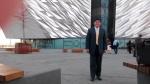 The symposium at the plush Titanic Belfast.