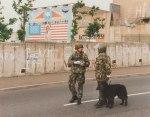 British troops patrol the streets of Belfast.