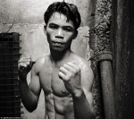 The young Manny Pacquiao...