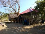 A typical Tagbanua home  with the new structure beside it.