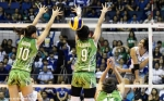 La Salle's defense focused on making Alyssa bleed for every point, every kill she tried.