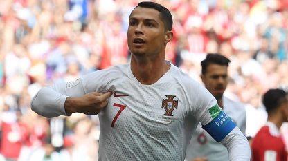 - Portugal's Cristiano Ronaldo is shining... (BBC)