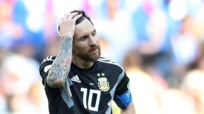 ... while Argentina's Lionel Messi is struggling. (Hindustan Times)