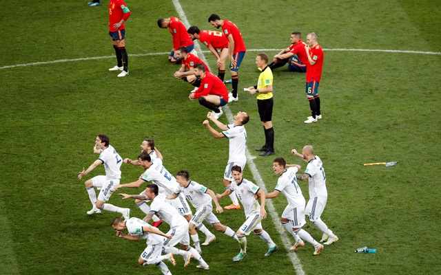- Pandemonium as Russia boot out the Spanish side. (BdNews)