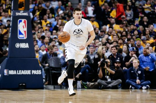 Nikola Jokic demonstrates his dribbling and passing skills. (USA TODAY Sports)