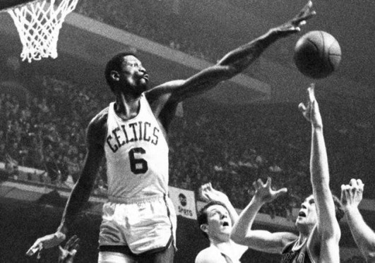 Bill Russell was nicknamed the 'Secretary of Defense' for his tough-as-nails D. (Medium)