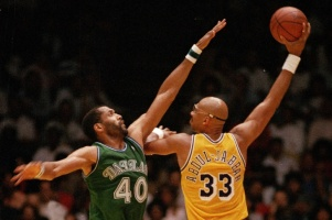 Kareem 'The Tower of Power' Abdul-Jabbar still holds the NBA all-time scoring record up to now. (LAist)
