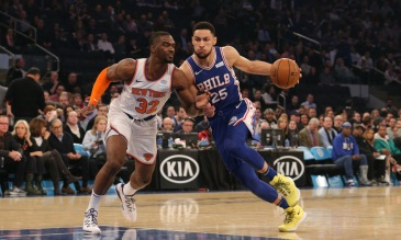 """At 6' 10"""", Ben Simmons skills as a point guard are a joy to watch. (USA TODAY Sports)"""