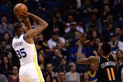 Kevin Durant's length could qualify him easily for a big. (Golden State of Mind)