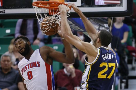 Andre Drummond and Rudy Gobert are both defense specialists. (Detroit Bad Boys)